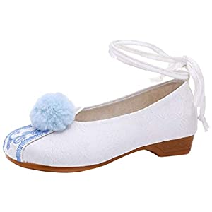 Tianrui Crown Cheongsam Sandales brodées à lacets pour femme