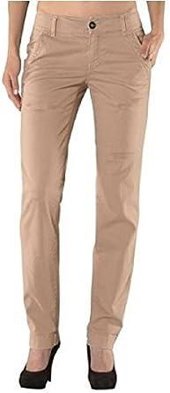 Pantalones de Tela De Algodón Estilo Chinos Mujer de set: Amazon.es: Ropa y accesorios