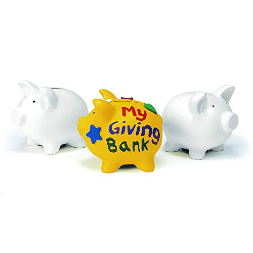 Colorations Decorate a Piggy Bank Kit of 12 Piggy Banks for Kids Art Project by Colorations (Image #1)