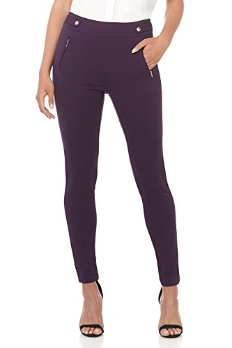 Rekucci Women's Secret Figure Pull-On Knit Skinny Pant (6,Deep Plum)