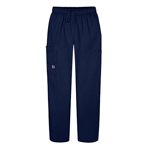 Sivvan Women's Scrubs Drawstring Cargo Pants (Available in 12 Colors) - S8200 - Navy - XL ()