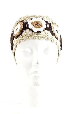 The Jewel Rack Knit Flower Lace Head Wrap