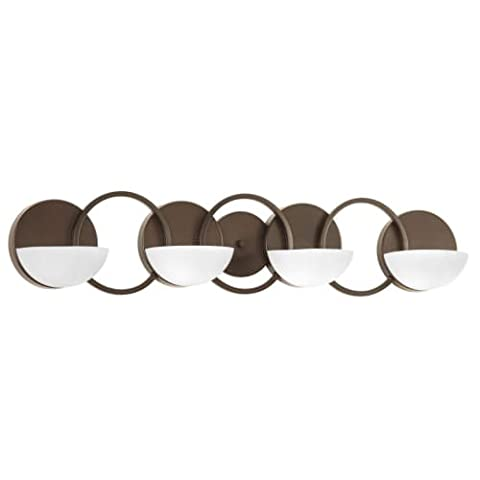 Progress Lighting P2036-20 Engage 4-Lt. Bath and Vanity Fixture with Etched Opal glass shades - Etched Opal Glass Shade