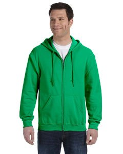 �Gildan Adult Heavy Blend� Full-Zip Hooded Sweatshirt (Irish Green) (Large)