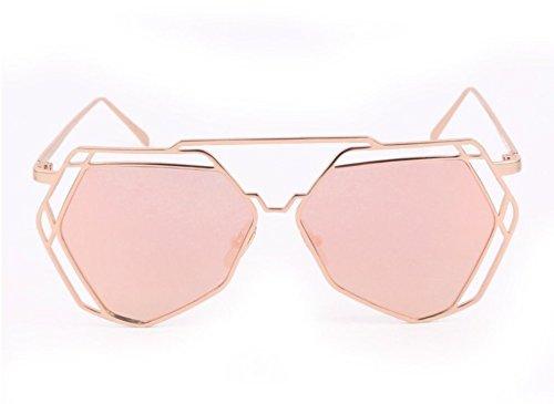 Gafas Sol Gafas Irregulares De Polígonos De De De Sol Mujer Gafas Metal Hueco Recorte Geométricas De JUNHONGZHANG De Gafas re Sol De Decorativas C SETcwAa