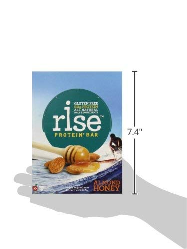 Rise Bar Non-GMO, Gluten Free, Soy Free, Real Whole Food, Whey Protein Bar (20g), No Added Sugar, Almond Honey High Protein Bar with Fiber, Potassium, Natural Vitamins &... (Almond Honey (33 Pack)) by RiseBar (Image #6)
