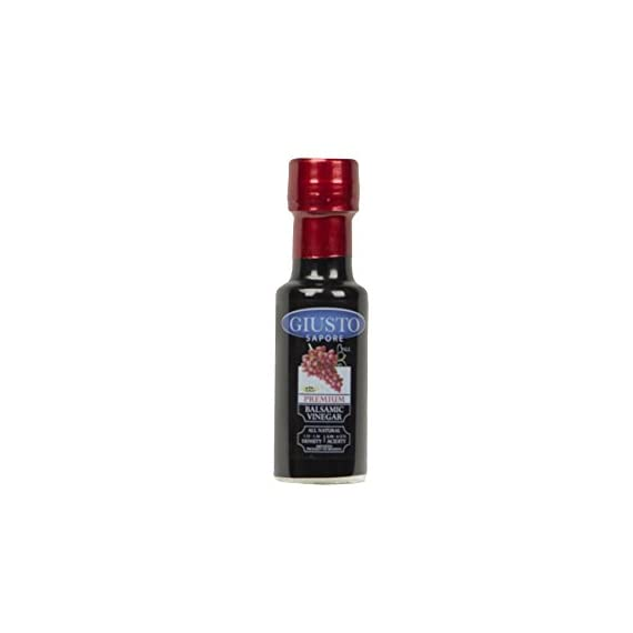 Giusto Sapore Dark Balsamic Vinegar - Premium Italian Gourmet Gluten Free Brand- Imported from Italy and Family Owned 1 FAMILY MADE: Premium gourmet dark balsamic vinegar brand that is imported and made in Italy. ORIGIN: Balsamic of Modena dark balsamic vinegars are made following a traditional recipe FLAVOR: The dark balsamic vinegar is aged in wooden barrels for superior flavor.