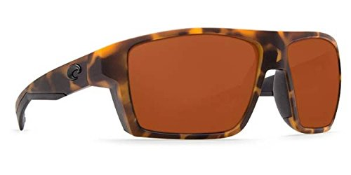 Copper Mens Sunglasses (Costa Del Mar Bloke 580P Bloke, Matte Retro Tort Matte Black Copper, Copper)