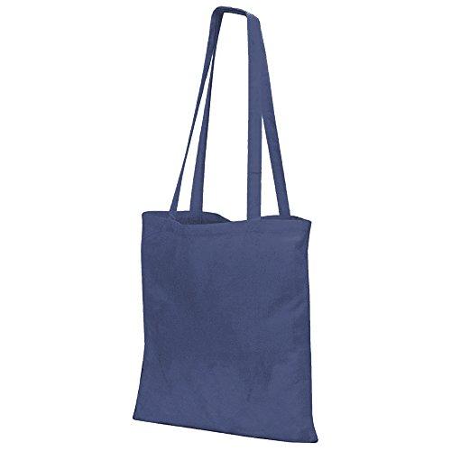 Oscuro larga de estilo Bags Bolso asa Azul tote Jassz wnf68xBqn