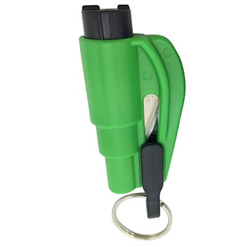 3 In 1 Emergency Mini Safety Hammer Auto Car Window Glass Breaker Seat Belt Rescue Hammer Emergency Accident Escape Tool Green