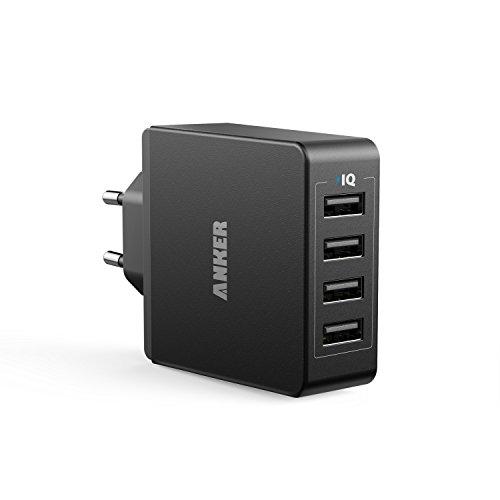Anker 36W 5V / 7.2A 4-Port USB Ladegerät Wand Ladeadapter mit PowerIQ...