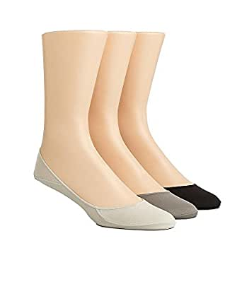 Calvin Klein Dress Shoe Cotton Liners 3-Pack, One Size, Sand/Putty/ Brown