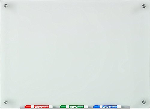 Audio-Visual Direct Frosted Glass Dry-Erase Board Set - 17 3/4 x 23 5/8 Inches - (Non-Magnetic)