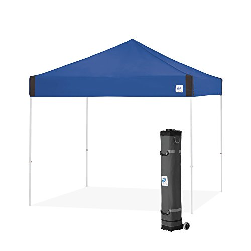 High Peak Clear Canopy - E-Z UP Pyramid Instant Shelter Canopy, 10 by 10', Royal Blue