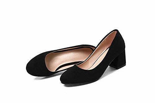 MissSaSa Damen Slip On Blockabsatz Pumps Schwarz