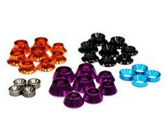 Integy RC Hobby C23387 Assorted Size Color Coded Concave Washer