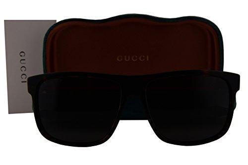 Gucci GG0010S Sunglasses Shiny Dark Havana w/Polarized Gray Lens 003 GG - Dark Sunglasses Gucci Havana