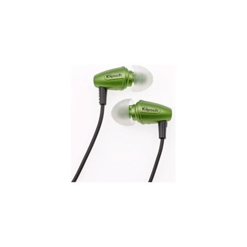 Klipsch Image S3 Noise-Isolating Earphones with Patented Oval Ear-Tips (Galaxy Green)