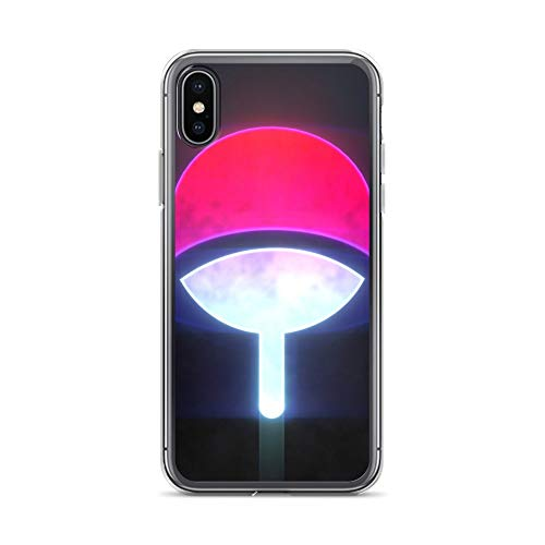 (iPhone X/XS Case Anti-Scratch Gamer Video Game Transparent Cases Cover Uchiha Gaming Computer Crystal Clear)