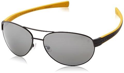Tag Heuer Lrs253111 Aviator Sunglasses,Matte Black & Yellow,62 mm (Tag Heuer Women Black)