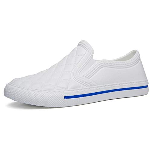 Yuchun Fashion Couples Flats Shoes Travelling Shoes Loafers Lazy Person Casual Shoes(White,6) (Best Shoes For Flat Footed Person)