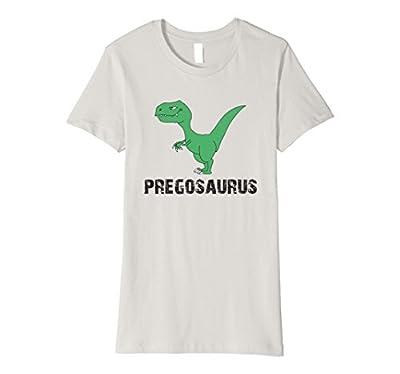 Womens Pregasaurus Funny Pregnancy Shirt