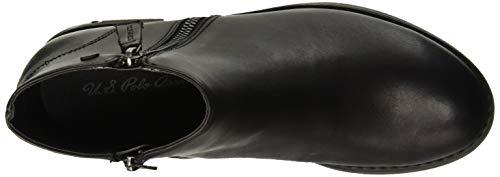 Blk U Donna black Nero Leather Viktorya Assn Stivaletti polo s W4YcBq4nZz