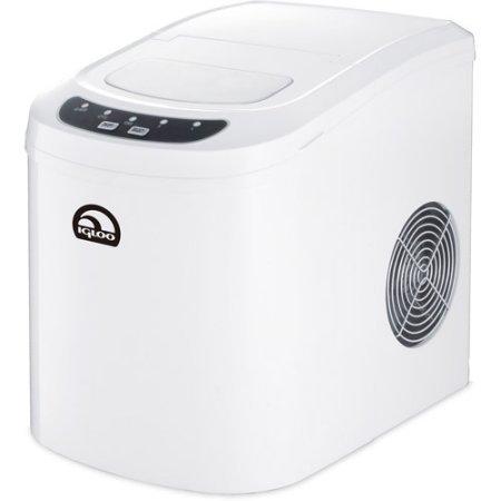 Igloo Portable Countertop Ice Maker, Dark Silver - Retro Sonic Compressor