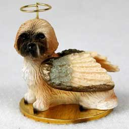 Brown Angel Dog Ornament - 3
