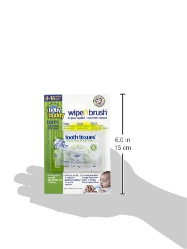 Baby Buddy Clear Wipe and Brush with Tooth Tissues by Baby Buddy: Amazon.es: Bebé