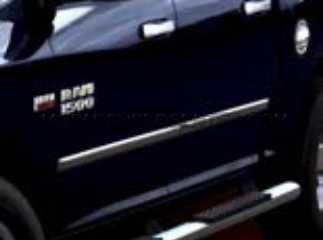 Quad Cab Chrome Door - 2011-2013 Ram 1500 Quad Cab Chrome Door Molding-Bodyside. Set of 4