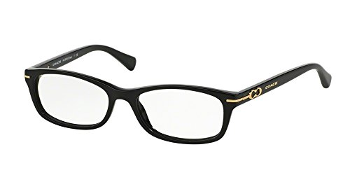 Coach Women's HC6054 Eyeglasses Black 50mm
