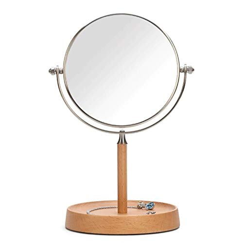 Beech Extendable Table - AEFCX Makeup Mirror Countertop Double Sided Vanity Mirror for Table Bedroom Makeup Application (Size: 14.5 28 cm) Omnidirectional Rotation