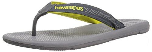 Havaianas Men's Flip Flop Sandals, Surf Pro ,Steel Grey/Grey,41/42 BR (9/10 M US)