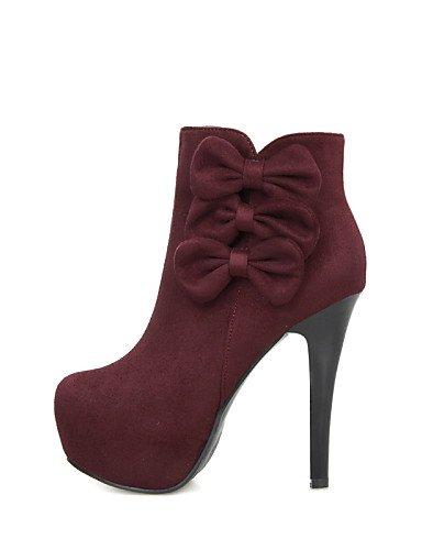 Black 5 De Red Rojo Uk6 Noche La Mujer Vestido Negro Y Tacón A 5 Eu36 us8 Fiesta Zapatos Botas Uk3 Cn35 Cn39 Xzz Vellón Moda Eu39 Stiletto us5 F5qx1na