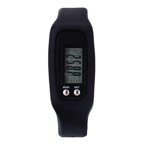 TOOGOO ( R ) hx-sports-watch-bracelet-pedometer-wrist-step-walking-calorie-counter-tracker Colour :湖ブルー  ブラック B071KQNPZZ