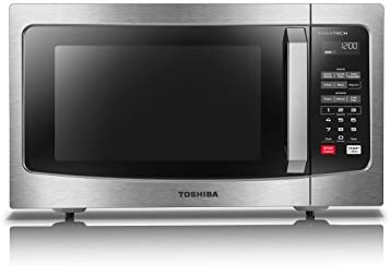 Toshiba ML-EM45PIT(SS) Microwave Oven with Origin Inverter Technology, LCD Display and Smart Sensor, 1.6 Cu.toes, Stainless Steel