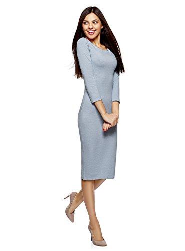 Scollo Oodji Aderente Donna Barchetta Con A 7000m Blu Ultra Abito XtqXwF7r