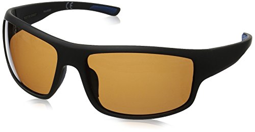 Foster Grant Men's Harbour Hd Polarized Rectangular Sunglasses, Black, 140 mm (Grant Foster Polarized Sunglasses)