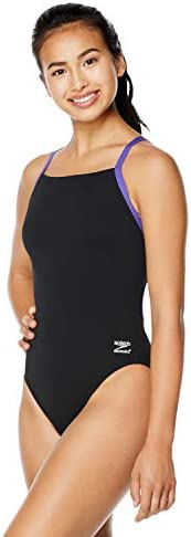 Speedo Girls Swimsuit One Piece Endurance+ Flyback Solid Adult Team Colors