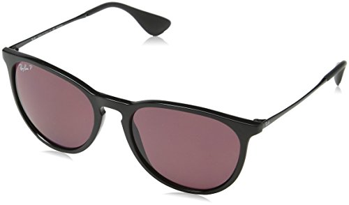 Ray-Ban ERIKA - BLACK Frame POLAR PURPLE Lenses 54mm Polarized (Ray Erika Ban)
