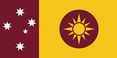 magFlags Large Flag Features the Queensland colours of Maroon and Gold | landscape flag | 1.35m² | 14.5sqft | 80x160cm | 30x60inch - 100% Made in Germany - long lasting outdoor flag