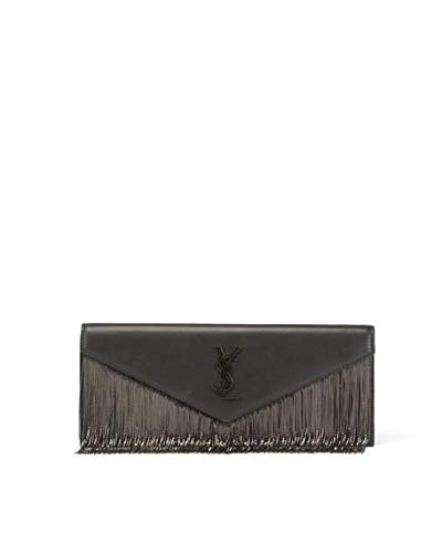 Saint Laurent Le Sept Chain-Fringe Clutch Bag Made in Italy