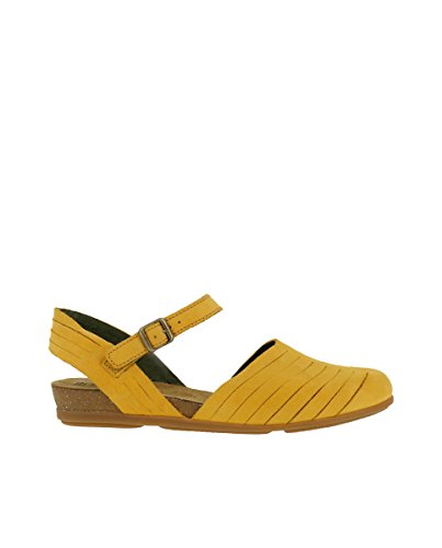 El Naturalista N5201 Pleasant Curry/Stella Orange Woman Sandals Buckle