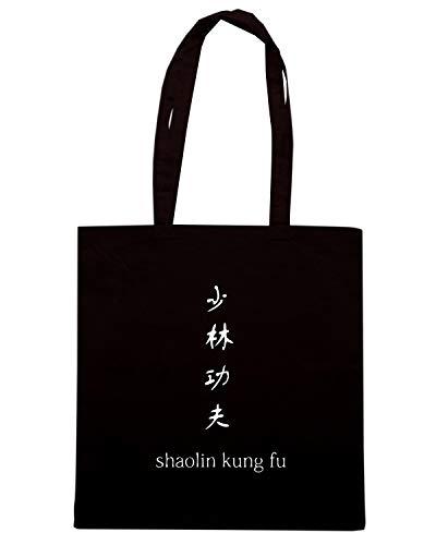 T-Shirtshock Borsa Shopper Nera TAM0161 SHAOLIN