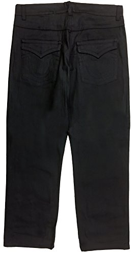 Universal Jeans Straight Cut Loose Fit (36, Black) - Loose Fit Black Jeans
