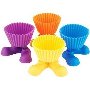 (Silly Feet Asst Colors Silicone Cupcake Baking Cups (Set of 4))