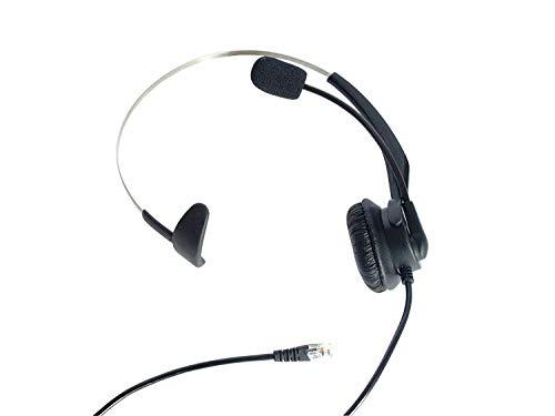 (Telephone Headset Headphone with Microphone, for Plantronics A100, S10, S11, S12, S50, T10, T20, T50, T100, T110, Nortel Networks, Call Center Headset, RJ9 Plug, Monaural)