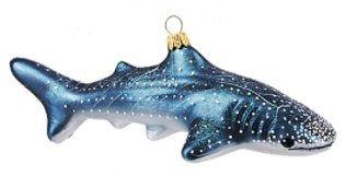 Whale Shark Sealife Polish Glass Christmas Ornament 110204 by VT-Ornaments