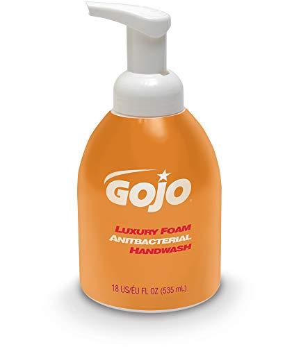 GOJO Luxury Foam Antibacterial Handwash, Orange Blossom Fragrance, 18 fl oz Foam Hand Soap Pump Bottle (Pack of 4) - 5762-04
